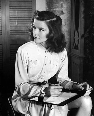 Photograph - Katharine Hepburn In Early Portrait by Alfred Eisenstaedt