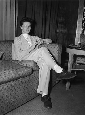 Photograph - Katharine Hepburn by Keystone