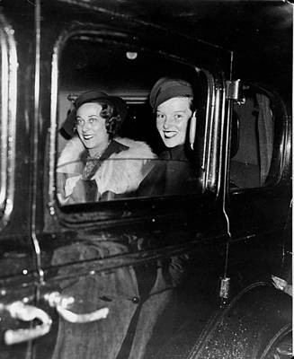 Photograph - Katharine Hepburn Right And Mrs by New York Daily News Archive