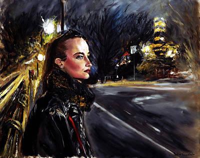 Painting - Katriina at Central Park I by Ruslana Levandovska