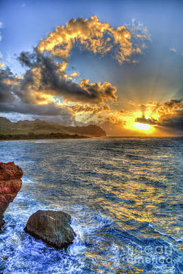 Photograph - Kauai Summer Sunrise Maha'ulepu Beach Kauai Hawaii Art by Reid Callaway