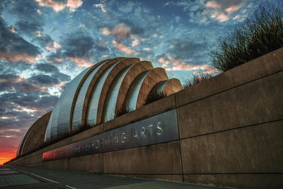 Photograph - Kauffman Arts Center Sunrise - Downtown Kansas City by Gregory Ballos