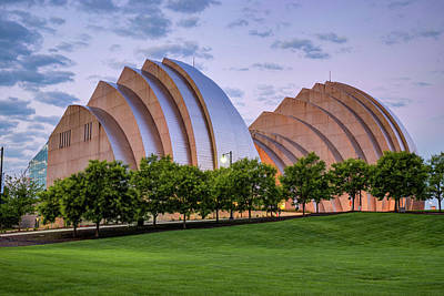 Royalty-Free and Rights-Managed Images - Kauffman Center at Dawn - Downtown Kansas City Missouri by Gregory Ballos