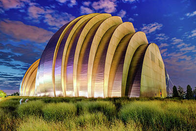 Photograph - Kauffman Center At Dawn - Kansas City Architectural Colors by Gregory Ballos