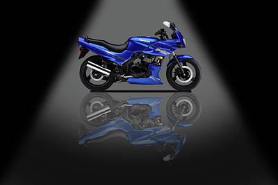 Mixed Media - Kawasaki Ninja 500r Spotlight by Smart Aviation