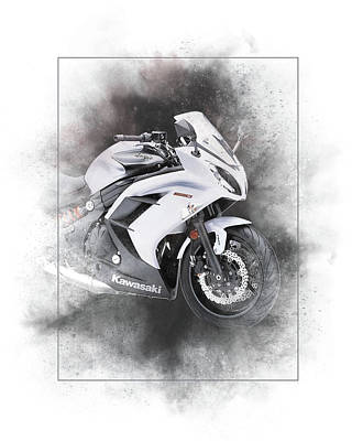 Mixed Media - Kawasaki Ninja 650 Sport Painting by Smart Aviation