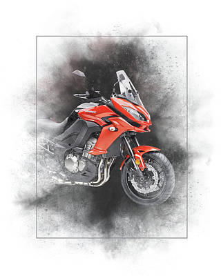Mixed Media - Kawasaki Versys 1000 Lt Painting by Smart Aviation