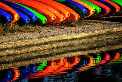 Photograph - Kayak Reflections by Tom Singleton