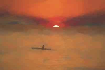 Photograph - Kayaking At Sunset by Karen Silvestri