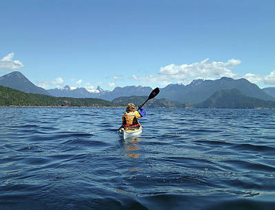 Photograph - Kayaking Into Desolation Sound, Bc by Curt Remington