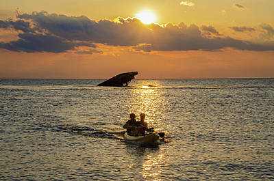 Photograph - Kayaking Sunset Point - Cape May New Jersey by Bill Cannon