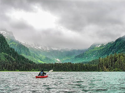 Photograph - Kayaking To The Clouds by Kay Brewer