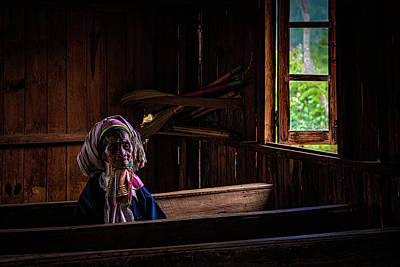Photograph - Kayan Woman In Ancient Church by Chris Lord