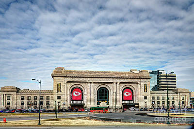 Photograph - Kc Union Station Supports The Chiefs by Jean Hutchison