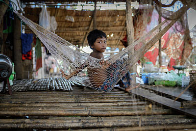 Photograph - Keeping Cool In Cambodia by Ian Robert Knight