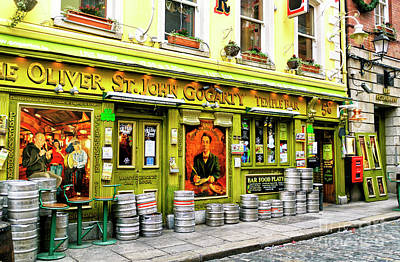 Photograph - Kegs At Oliver St. John Gogarty Dublin by John Rizzuto