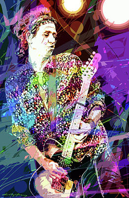 Music Paintings - Keith Richards Forever by David Lloyd Glover