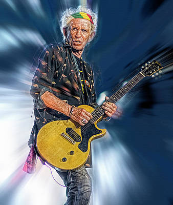 Musicians Royalty Free Images - Keith Richards Musician Royalty-Free Image by Mal Bray