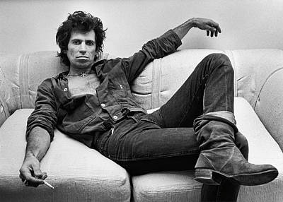 Photograph - Keith Richards Portrait Session by George Rose