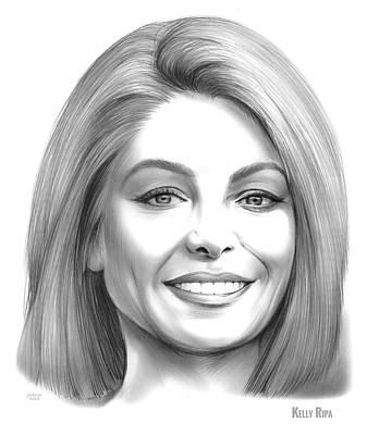 Drawings Royalty Free Images - Kelly Ripa Royalty-Free Image by Greg Joens
