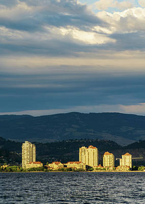 Photograph - Kelowna At Sunset by Dave Matchett