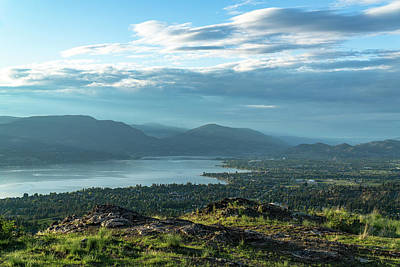 Photograph - Kelowna From Kuipers Peak by Dave Matchett