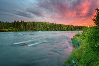 Kenai River Alaska Sunset Art Print