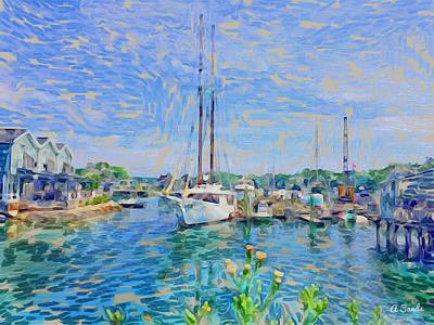 Digital Art - Kennebunkport Maine by Anne Sands