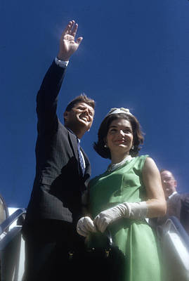 Photograph - Kennedy Campaign Tour by Paul Schutzer