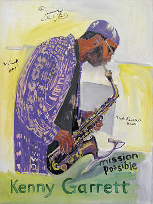 Painting - Kenny Garrett by Suzanne Cerny