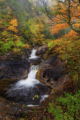Photograph - Kent Falls Foliage 2 by Bill Wakeley