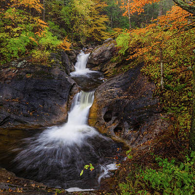 Photograph - Kent Falls Foliage 2 Square by Bill Wakeley