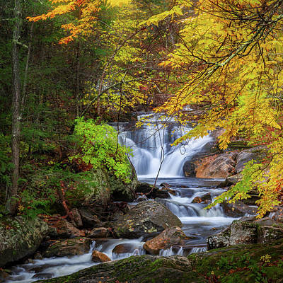 Photograph - Kent Falls Foliage Square by Bill Wakeley