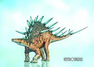 Digital Art - Kentrosaurus by Bob Orsillo