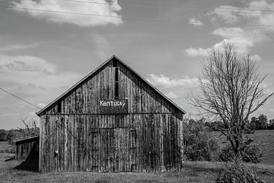 Photograph - Kentucky Barn Black And White  by John McGraw