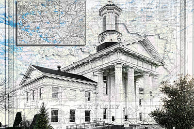 Photograph - Kentucky Travel Map Richmond by Sharon Popek