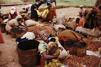 0 Photograph - Kenya, Women And Children 0-6 Months by Christopher Pillitz
