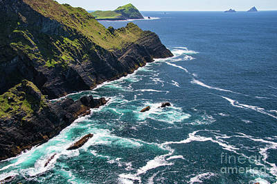 Portmagee Wall Art - Photograph - Kerry Cliffs Eight by Bob Phillips