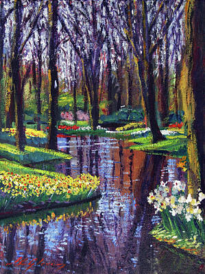 Painting - Keukenhof Park In Spring by David Lloyd Glover
