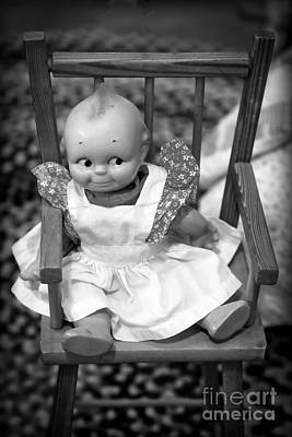 Photograph - Kewpie Doll In Black And White by Carol Groenen