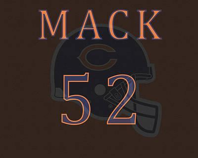 Mixed Media - Khalil Mack Jersey by Dan Sproul