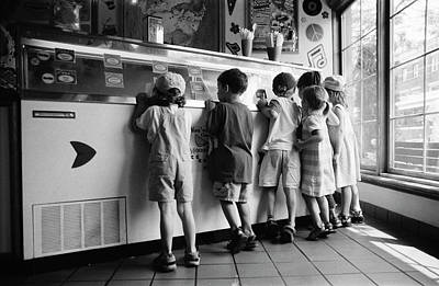 Photograph - Kids At Ice Cream Counter by Michelle Quance