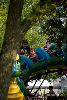 Photograph - Kids Summer Fun At The Carnival by Frank J Casella