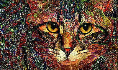 Digital Art - Kiki Golden Eyes by Peggy Collins