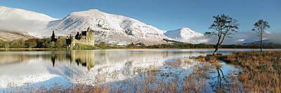 Photograph - Kilchurn Castle - Loch Awe - Winter Morning by Grant Glendinning