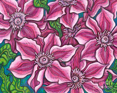 Painting - Kilian Donahue Clematis by Amy E Fraser