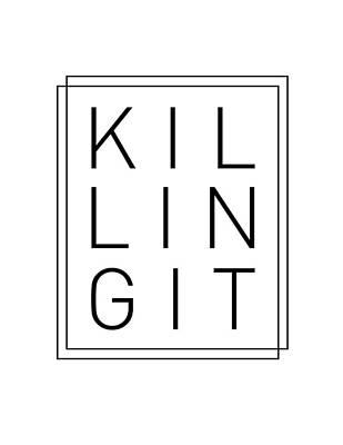 Mixed Media Royalty Free Images - Killing It - Cool, Trendy, Stylish, Minimal Typography Royalty-Free Image by Studio Grafiikka