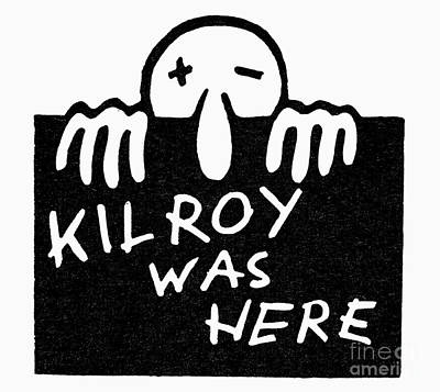 Drawing - Kilroy Was Here by Granger