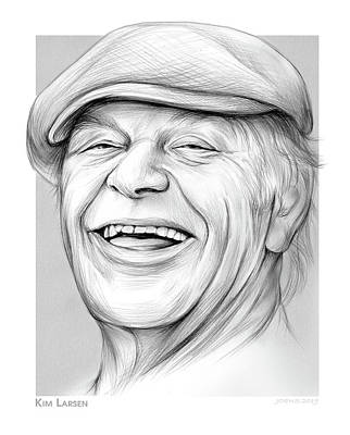 Musicians Drawings Rights Managed Images - Kim Larsen Royalty-Free Image by Greg Joens
