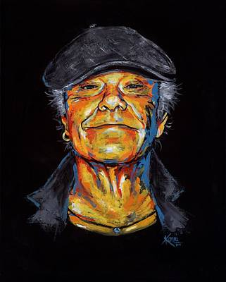 Painting - Kim Larsen Tribute by Konni Jensen